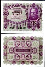 AUSTRIA 20 KRONEN 1922 P 76 UNC