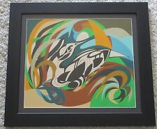 1970'S MICHAEL MANGEL PAINTING ABSTRACT NON OBJECTIVE POP OP EXPRESSIONISM VNTG