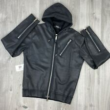 """DSQUARED2 """"NEVER MIND THE BULLDOGS 2 ZIP GREY JACKET SIZE XL (FITS LIKE M/L)"""