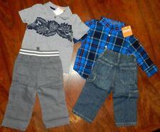 Jeans Pants Outfits Gymboree 4pc Polo Shirt Cotton Boy sz 12-18 mo New