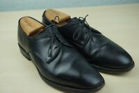 Allen Edmonds Kenilworth Plain Toe Blucher Sleek Black Leather Dress Shoes 9 D