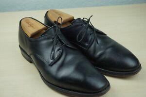 Allen Edmonds Kenilworth Plain Toe Blucher Sleek Black Leather Dress Shoes 9 D