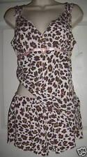 Women's Tart Sexy Lingerie Pjs Teddy Leopard Print Set Sz M Fun Summer Sleep