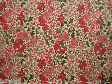 "LIBERTY OF LONDON TANA LAWN FABRIC DESIGN ""Edna "" 2.4 METRES PINK & GREEN"