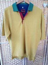 BALMERINO Country Collection Golf Polo Top Mustard Yellow Red Green Blue Medium