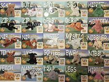 Lot SeriesII 2 TY Beanie Babies Collector Cards Cats Dogs Horse Frog Bunny 1999
