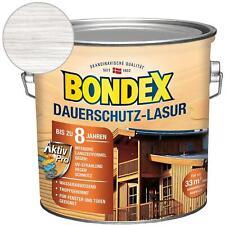 Bondex Dauerschutz-Lasur Weiß Holzlasur 2,5 Liter