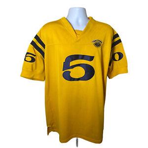 "Fubu Vintage Collection Jersey STITCHED 1992 90's Yellow Men's Sz XL (46) ""5"""