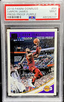 LeBron James 2018-19 Donruss Press Proof Purple /199  Lakers #94 PSA 9 POP 2