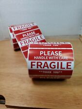 50 Shipping Labels Please Handle With Care Fragile Stickers 2 X 3