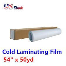 "54""x50yd Roll Satin Cold Laminating Film,Monomeric 3.15 mil, Paper Adhesive Glue"