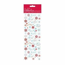 Create Christmas (Papermania) Card Craft Stickers - Festive Icy Snowflakes
