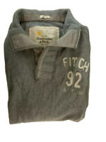 Abercrombie & Fitch jumper size XL Grey with front pockets knit collar