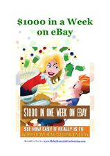 $1000 in a Week on EBay, PDF ebook with Full Private Label Rights- Free Shipping