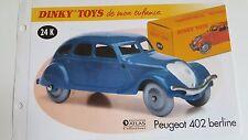 Dinky Toys Atlas - Fascicule SEUL de la Peugeot 402 Berline (Booklet only)