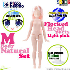 AZONE 1/12 Picco Neemo M Natural Body & Flocked Head parts Light pink hair Doll