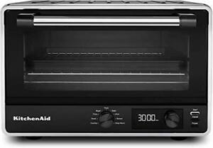 KitchenAid KCO211BM Digital Countertop Toaster Oven, Black Matte (Refurbished)