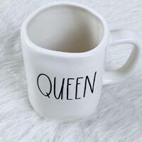 Rae Dunn Queen Mug LL Coffee Cup Ivory Home Decor Pottery Clay
