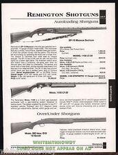 2002 REMINGTON SP-10 Magnum, 1100 LT-20 Auto, 300 Ideal 12 gauge O/U Shotgun AD