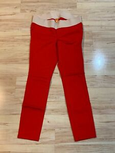 New Women's Old Navy Maternity Red Jeans Super Skinny Denim Pants Low Rise Sz 10