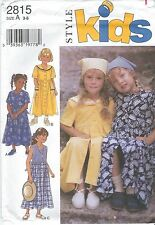 STYLE 2815 Girls' Dresses 3, 4, 5, 6, 7, 8   Sewing Pattern