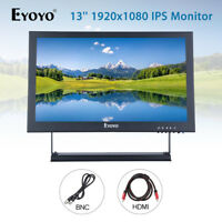 "EYOYO 13"" Full HD 1920x1080 Video Audio VGA BNC HDMI Input IPS Monitor Display"