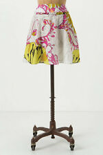 Anthropologie Guarri Skirt High Waist Floral Silk A-Line Pockets By LeifNotes 10