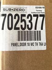 Sub-Zero 7025377 Panel Door Tubular Handle Door Panel