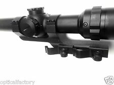 "30mm 1""Flat Top QD Scope Mount w/ Quick Release/Detach Cam Locks"