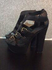 Block Heels With Platform Size 5