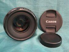 Canon EF 50mm 1:1.2L USM Ultrasonic Lens w Both Caps - Works Great