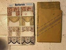 Vintage Butterick 6857 Waverly window toppers, curtains, valences, treatments UC