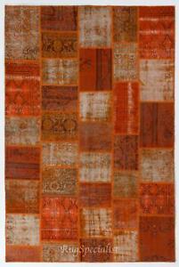 Handmade Patchwork Rug Made from Over-Dyed Vintage Carpets, CUSTOM OPTIONS Av.