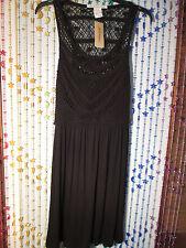American Rag PRETTY dress crochet look at top nwt L black