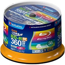 50 Verbatim Blank Blu-ray Discs 50GB BD-R DL 4x 6x bluray^