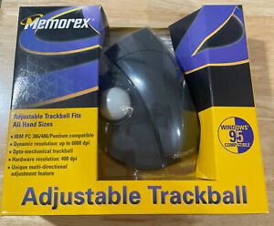 NEW Memorex (3202-2314) Adjustable Trackball Mouse Serial/PS2 1997
