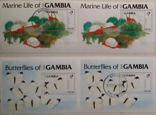 Gambia 1984 Butterflies & Marine Life MSheets Used and MNH