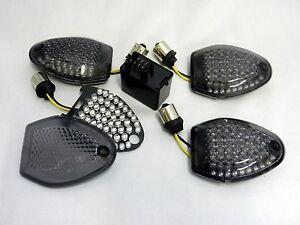 Black LED Indicator Kit Suzuki GSR 750 C5 L1 L2 L3 L4 L5 Smoked Signals