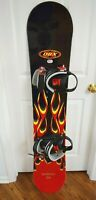 DBX INFERNO SNOWBOARD MEN SIZE CM 151 WITH LARGE DBX BINDINGS