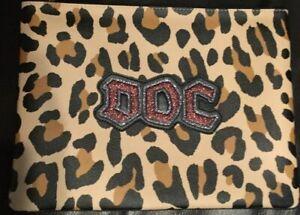 NWT Disney X Coach Dark Fairytale Snow White Doc Leopard Print Large Pouch Bag