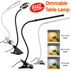 3 Mode LED USB Clip On Flexible Desk Lamp Dimmable Bed Read Table Study Light UK