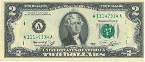 banconota 2 dollari del 1976 (serie A)
