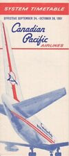 Canadian Pacific Airlines timetable 1961/09/24