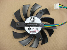75mm MSI GTX 460 560 570 580 R6870 R6950 Fan Replacement 40mm 4Pin PLD08010S12HH