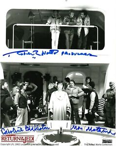 Star Wars- Caroline Blakiston & Robert Watts signed Mon Mothma & Producer 8x10