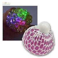 Quetschball im Netz mit LED, Knetball Knautschball Anti Stressball Stress Ball