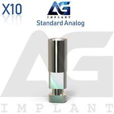 10 Standard Analog Platform Titanium Prosthetic For Dental Implant Internal Hex
