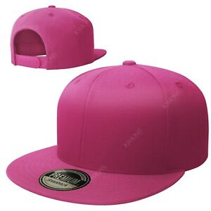 Snapback Hat Flat Baseball Cap Trucker Solid Plain Blank Men Hip Hop Army CS