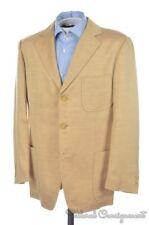HICKEY FREEMAN Sport Beige SILK Patch Pocket Blazer Sport Coat Jacket - M / 42 R