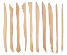 10 pcs Wood Wooden Clay Modeling Tool Set Polymer Clay Tools Sculpting POT9